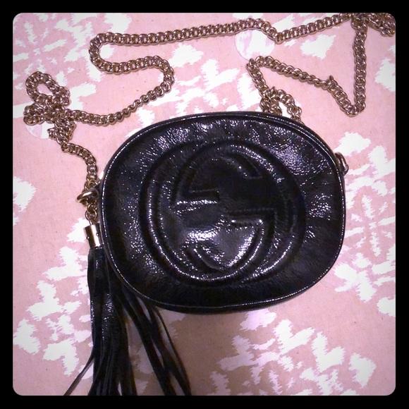 d61438eff Gucci Bags   Soho Chain Bag Patent Mini Black   Poshmark